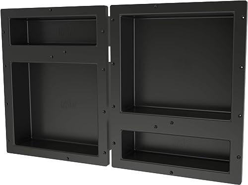 Tile Redi USA RNQH1620DU-20D Redi Niche Shower Shelf, 32 W x 20 H, Black