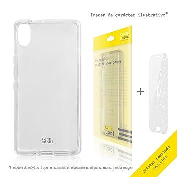 56042168a Set Funda Transparente para BQ Aquaris X5 TechCool® [Gel Silicona Flexible  Alta Calidad]. Pasa el ratón por ...