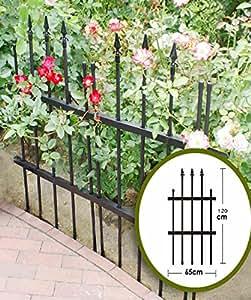 KKCFHUAJIA Valla de plástico Valla de jardín Piquete Paneles de valla Bordes de césped Borde Valla Estirable (Color : B, Tamaño : 2 pieces)