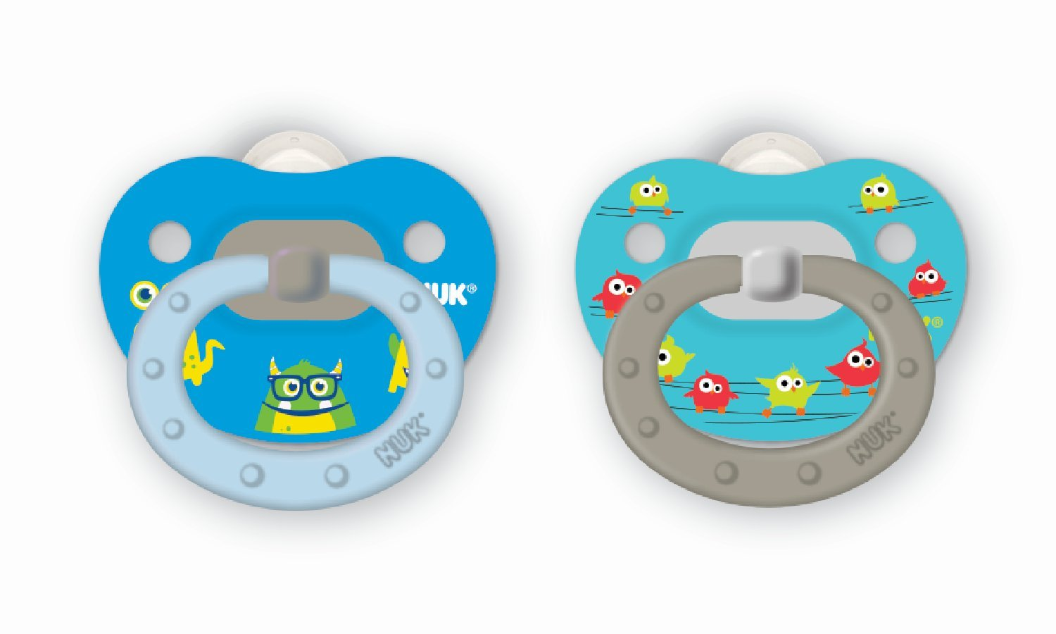 NUK Translucent Pacifier, 6-18 Months, Boy, 2 pk Graco Children' s Products - NUK 14274