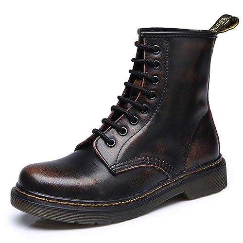 Botas Militares Unisex Adulto QImaoo Moda Invierno Zapatos Boots Botines Botas de Nieve Botas para Hombre Mujer: Amazon.es: Zapatos y complementos