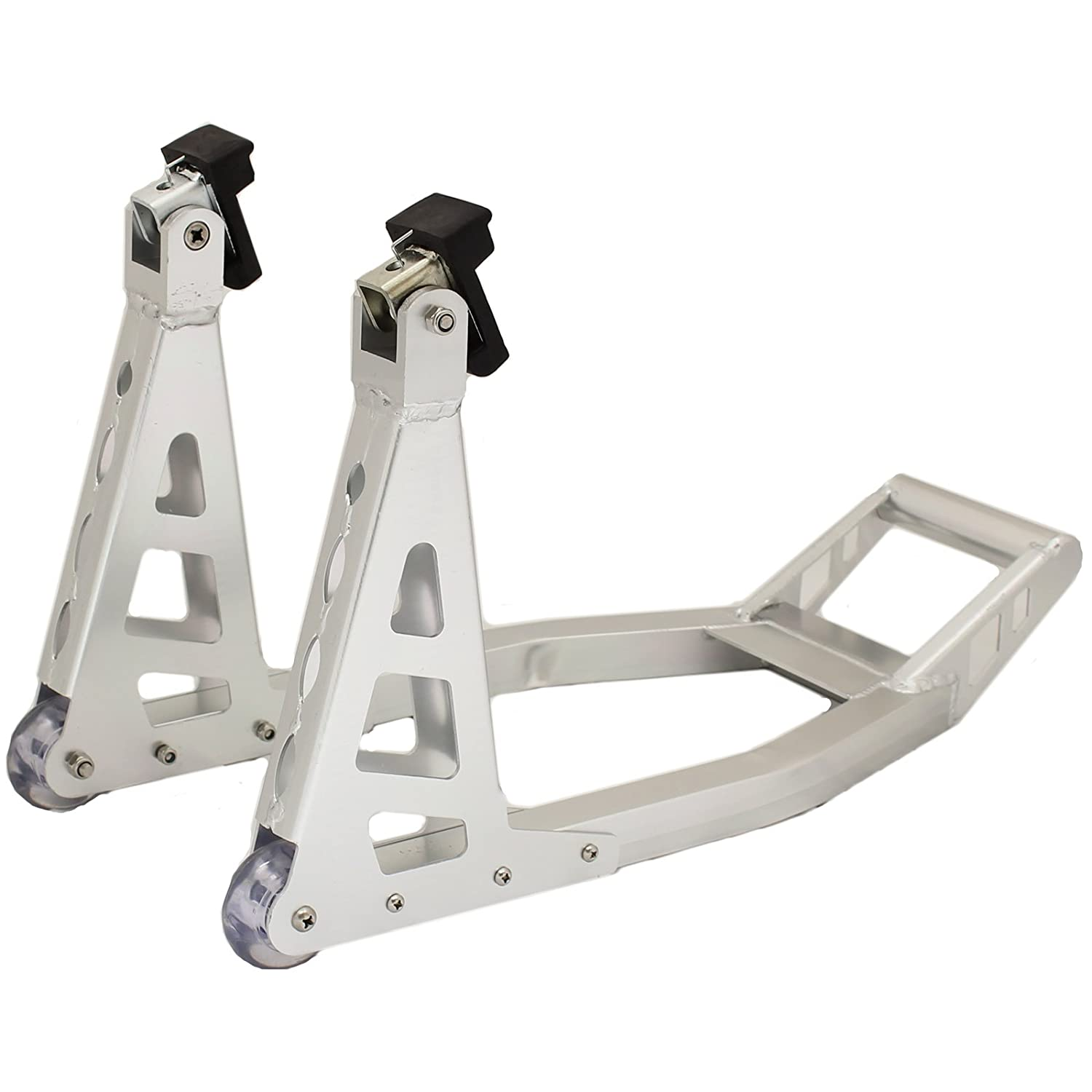 Ryde Aluminium Motorcycle Front Paddock Stand - Silver