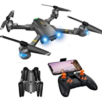 WiFi FPV Drone with Camera 720P HD, RC Drones for Beginners with Gravity Control/Voice Control/Trajectory Flight/App Control/Altitude Hold, Best Drone forBeginners