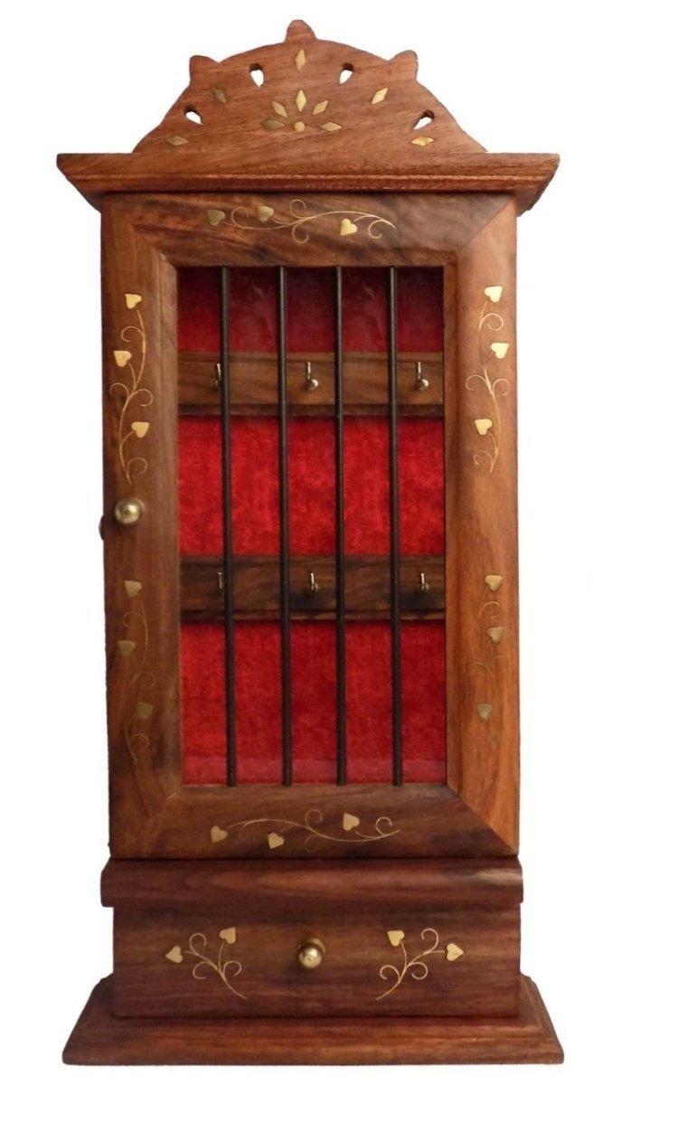 Stylla London handgefertigt Wandbehang Schlü sselhalter/Unterschrank, braun, Holz, 5,6 x 22.35 X 26.92 cm VS1251