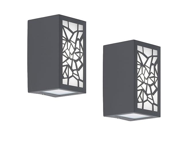 Set da pezzi in alluminio led applique da parete padua ip