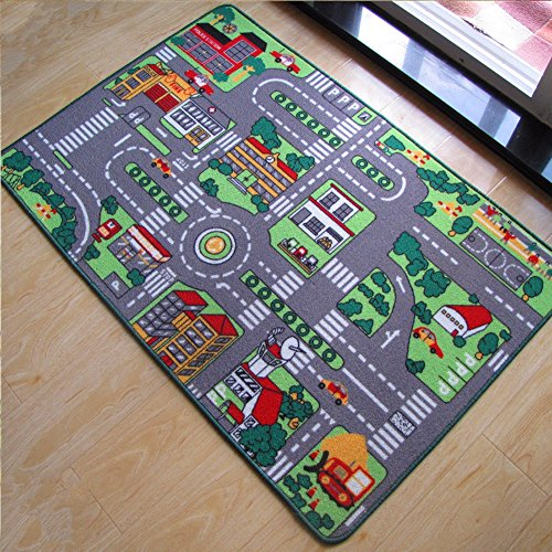 YJ.GWL Kids Play Carpet Rugs, Learning Carpets Giant Road Non-Slip Game Mats for Boys and Girls(Giant Road) - Giants Carpet