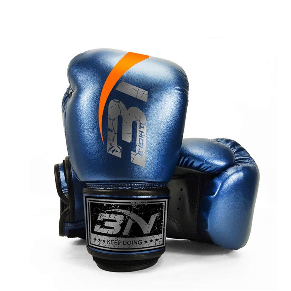 ボクシンググローブパンチングバッグスパーリングトレーニングミットキックボクシング男性と女性子供大人のMma B07NZV6PST blue 12oz