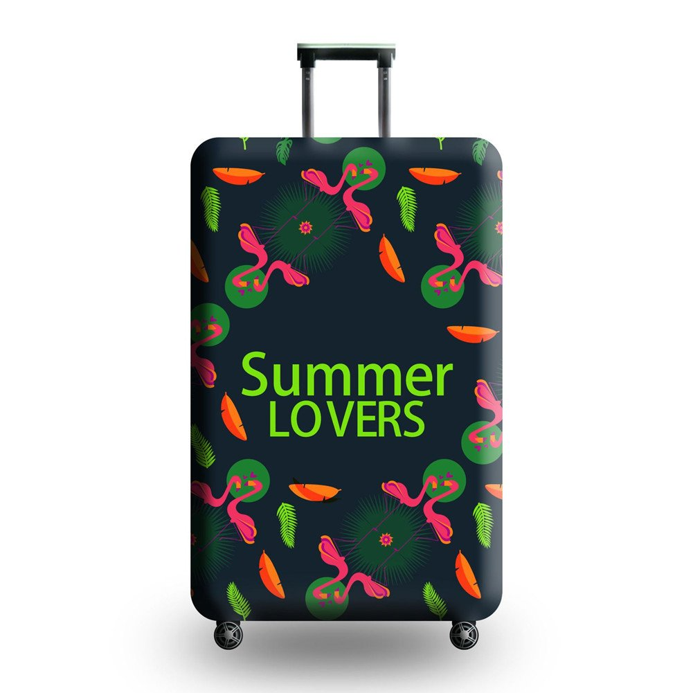 Luggage Cover Elastic Cover Suitcase colorful Washable Anti-Scratch Stretchy Protector (Summer, L)