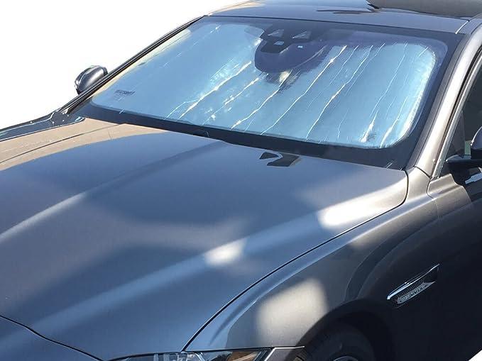 Custom-fit Windshield Sun Shade AutoTech Zone Sun Shade for 2010-2017 Jaguar XJ Sedan