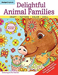 Delightful Animal Families: Craft, Pattern, Color, Chill (Coloring is Fun) (Design Originals) 40 Beginner-Friendly Creative Art Activities from Thaneeya McArdle, on Extra-Thick Perforated Paper