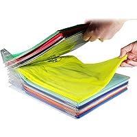 1/10 Layer Anti-wrinkle Neat Storage Holder Rack T-shirt Organizing System Travel Closet Organizer Shirt Folder