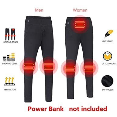 d23f06f04a065 Insulated Heated Pants, USB Smart Thermostat Carbon Fiber Electric Heating  Pant Slim Pant for Cycling