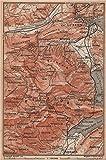 PILATUS. Luzern Lucerne Kriens Alpnach Hergiswil. Topo-map. Schweiz - 1893 - old map - antique map - vintage map - Switzerland map s