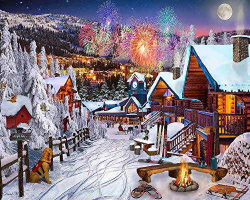 Winter Playground Jigsaw Puzzle 1000 Piece