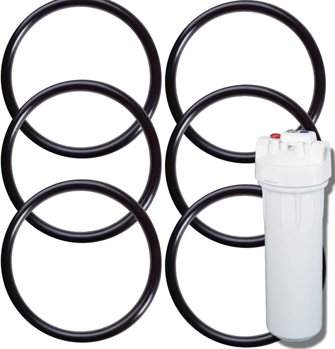 6-Pack of O-Rings for GE (TM) 2.5 Inch Water Filters - Compatible with GXWH20F, GXWH04F, GXRM10, GXWH20S and GX1S01R - Gaskets/O-Rings/Seals by Impresa Products