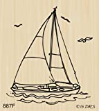 Sailboat Rubber Stamp by DRS Designs Rubber Stamps