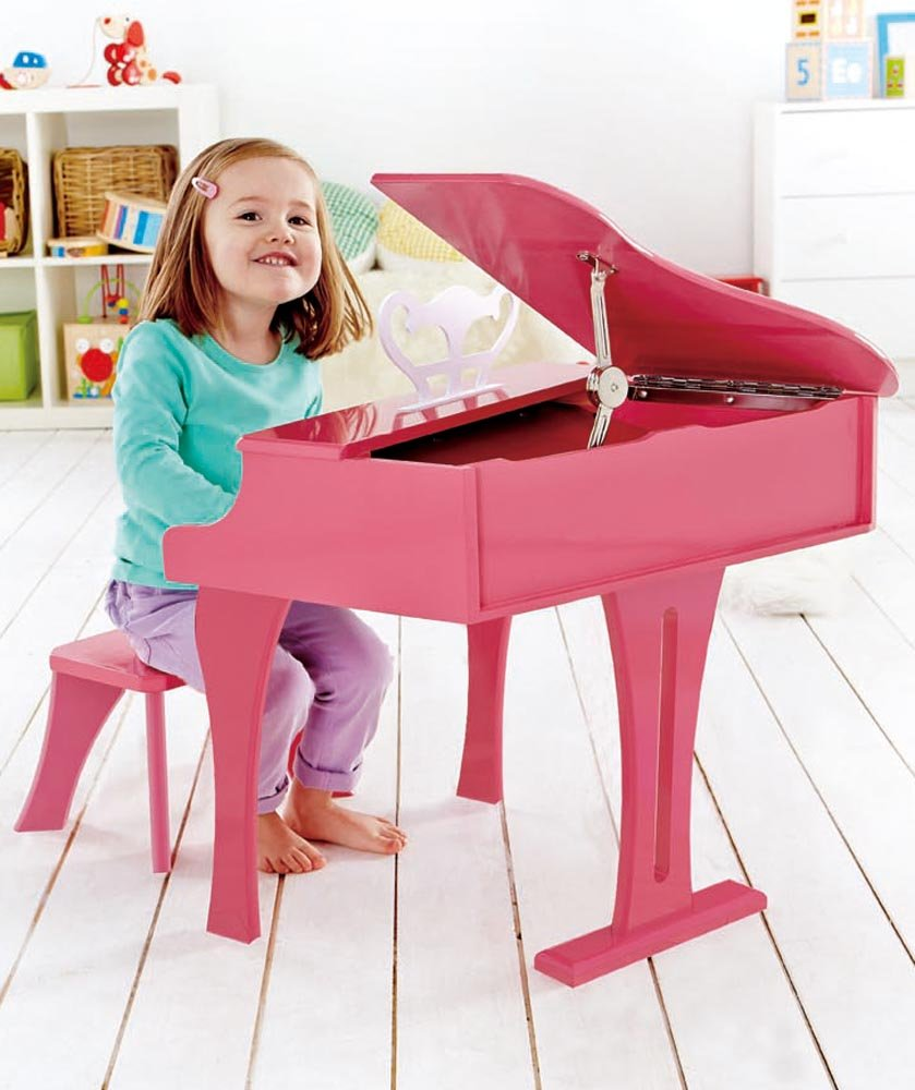 Hape Happy Grand Piano in Pink Toddler Wooden Musical Instrument by Hape (Image #6)