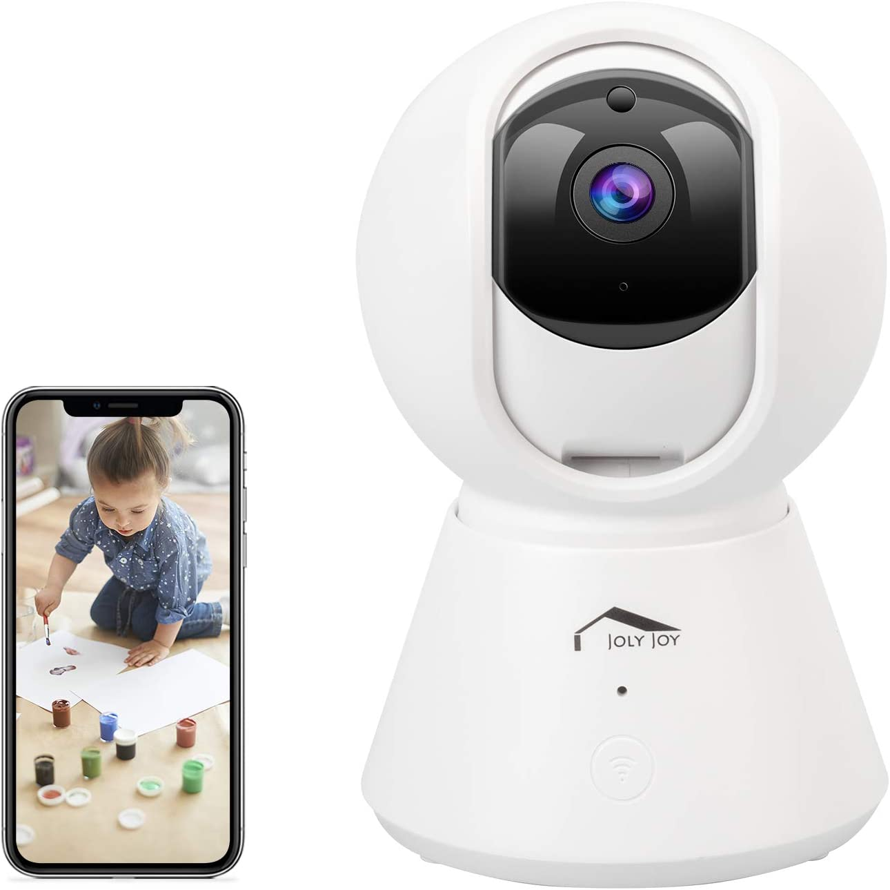 Security Camera, Wellwerks 1080P HD Home Security Camera, 2MP/3MP Indoor Wireless Camera, Baby Monitor with Alexa/2.4G WiFi/Zoom Night Vision Motion Detection 2 Way Audio