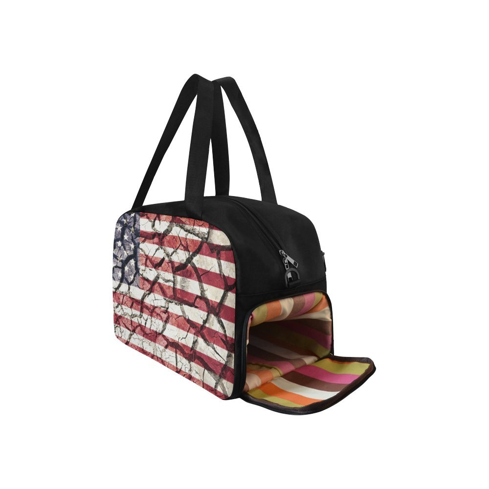 Unique Design Duffel Bag American Flag Travel Tote Bag Handbag Crossbody Luggage
