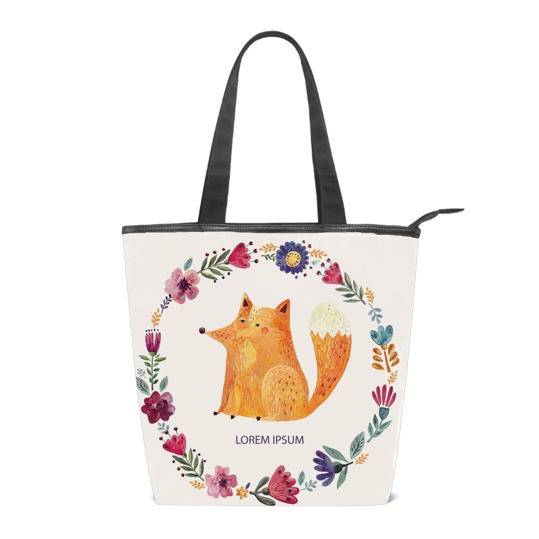 Women Dog Shoulder Bags Casual Vintage Canvas Handbags Top Handle Tote Shopping Bags