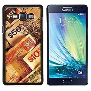 TECHCASE---Cubierta de la caja de protección para la piel dura ** Samsung Galaxy A7 ( A7000 ) ** --Números de dinero riqueza rico símbolo 50