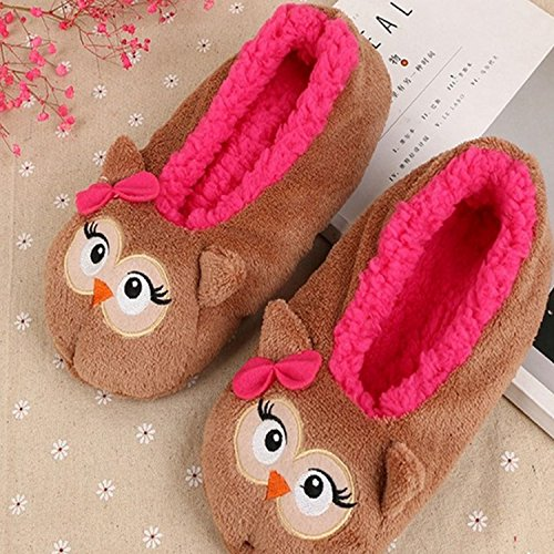 Men Women Cute Cartoon Christmas Style Winter Soft Warm Indoor Plush Slippers US 8.5/ UK 6.5/ EUR 42 Panda Style Brown Animal Style txQLj2x1O