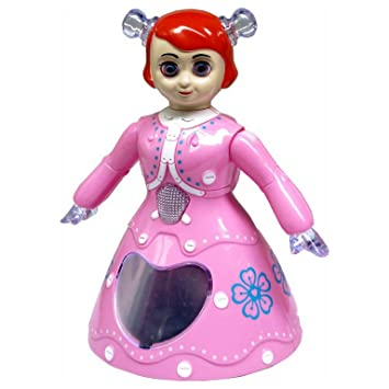 Shreeja Collections Musical Dancing Princess Doll Toy with 3D Lights, Pink