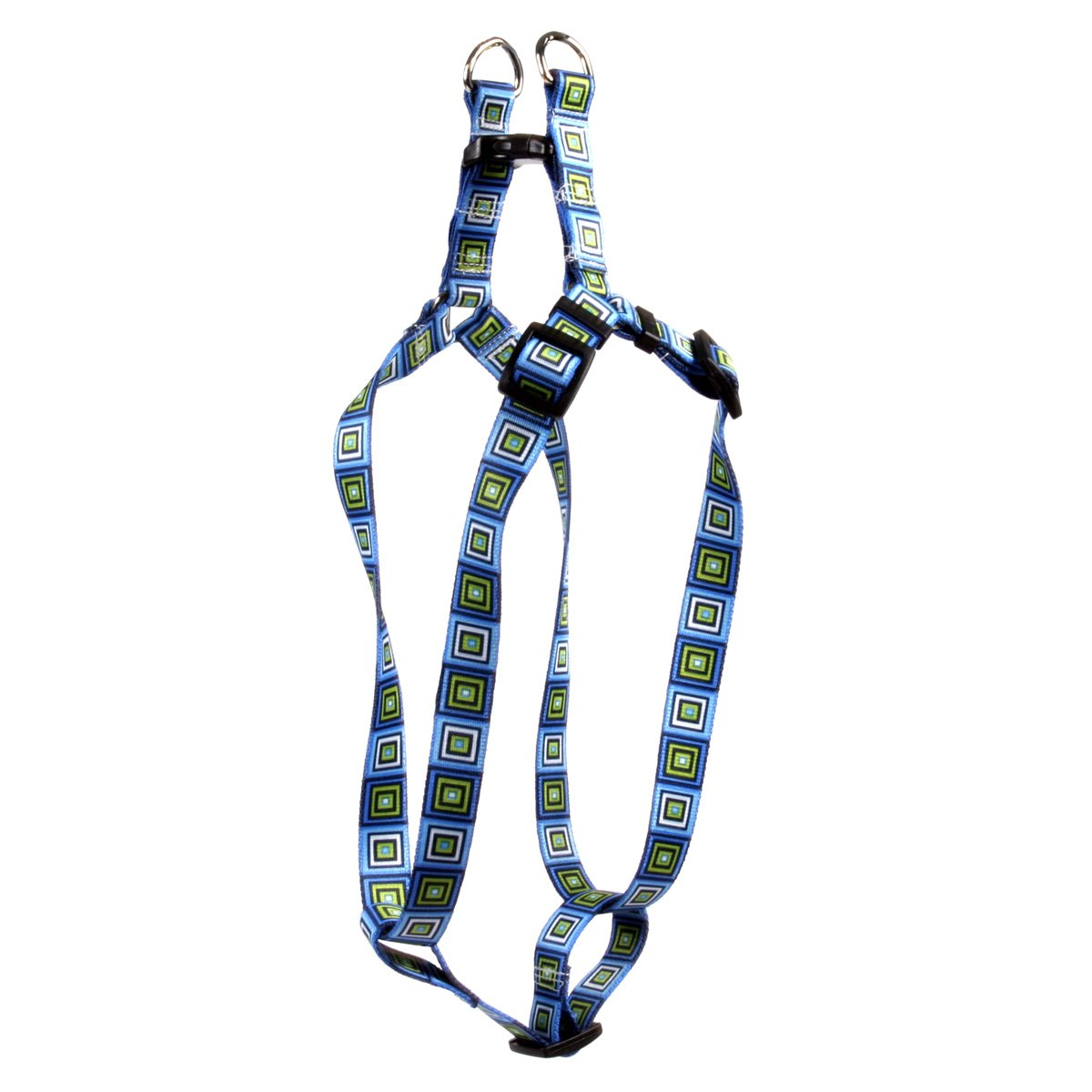Extra Small 4.5\ Yellow Dog Design bluee Blocks Step-in Dog Harness 3 8  Wide Fits Chest Circumference 4.5 to 9 , X-Small
