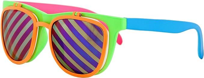 Retro Sunglasses | Vintage Glasses | New Vintage Eyeglasses Flip Up Neon Glasses $10.99 AT vintagedancer.com