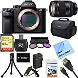 Sony a7S II Full-frame Mirrorless Interchangeable Lens Camera 24-240mm Lens Bundle includes a7S II Body, 24-240mm Telephoto Zoom Lens, 72mm Filter Kit, 64GB Memory Card, Beach Camera Cloth and More