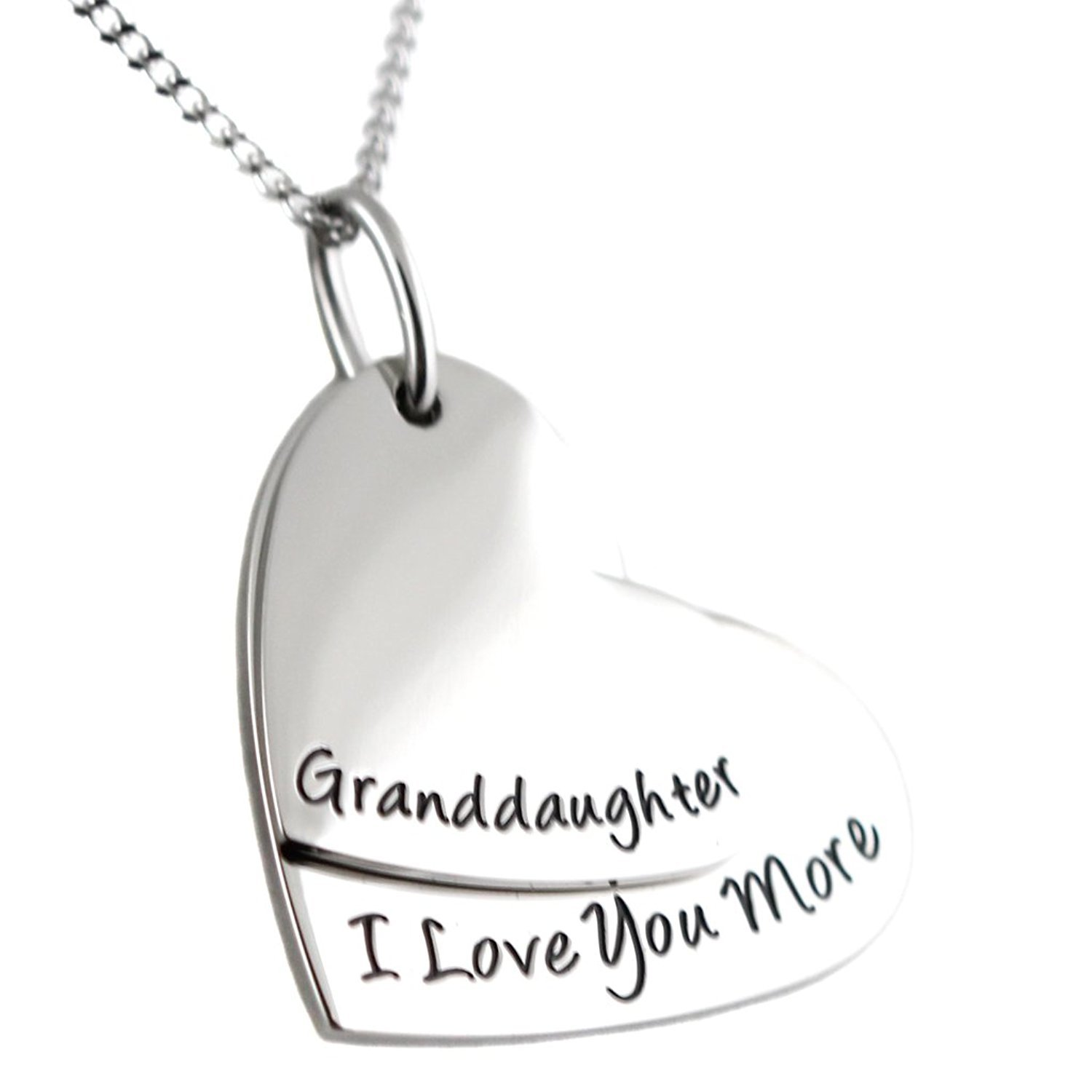 'Granddaughter, I Love You More' Pendant Necklace by Steal My Heart (Image #2)