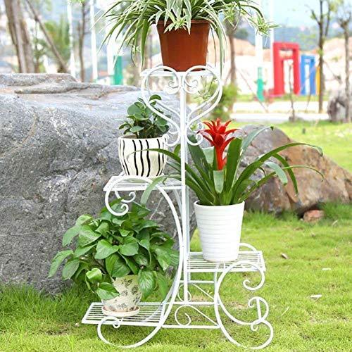 Tier Wrought Iron Plant Stand - 4 Tier Flower Stand Metal Rack Flower Holder Pot Plant Stand, Wrought Iron Garden Home Flower Balcony Shelf Ladder Display Planter Holder