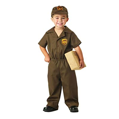 UPS Guy Boy's Costume, Medium (3-4),Brown: Toys & Games