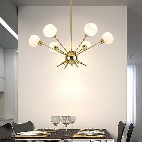 Sputnik Chandelier   Housen Solutions 6 Lights Modern Pendant Lighting  Golden Ceiling Light Fixture, UL