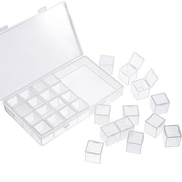 37c6b4424 Caja separada de 28 rejillas de diamante para bordado de la marca TecUnite,  caja separadora de ...