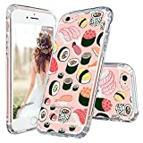 iPhone 6s Plus Case, MOSNOVO Cute Sushi Design with Premium Shock Absorption TPU Bumper Cushion + Scratch Resistant Clear Protective Cases Hard Cover for Apple iPhone 6/6s Plus (5.5 inch) - Clear