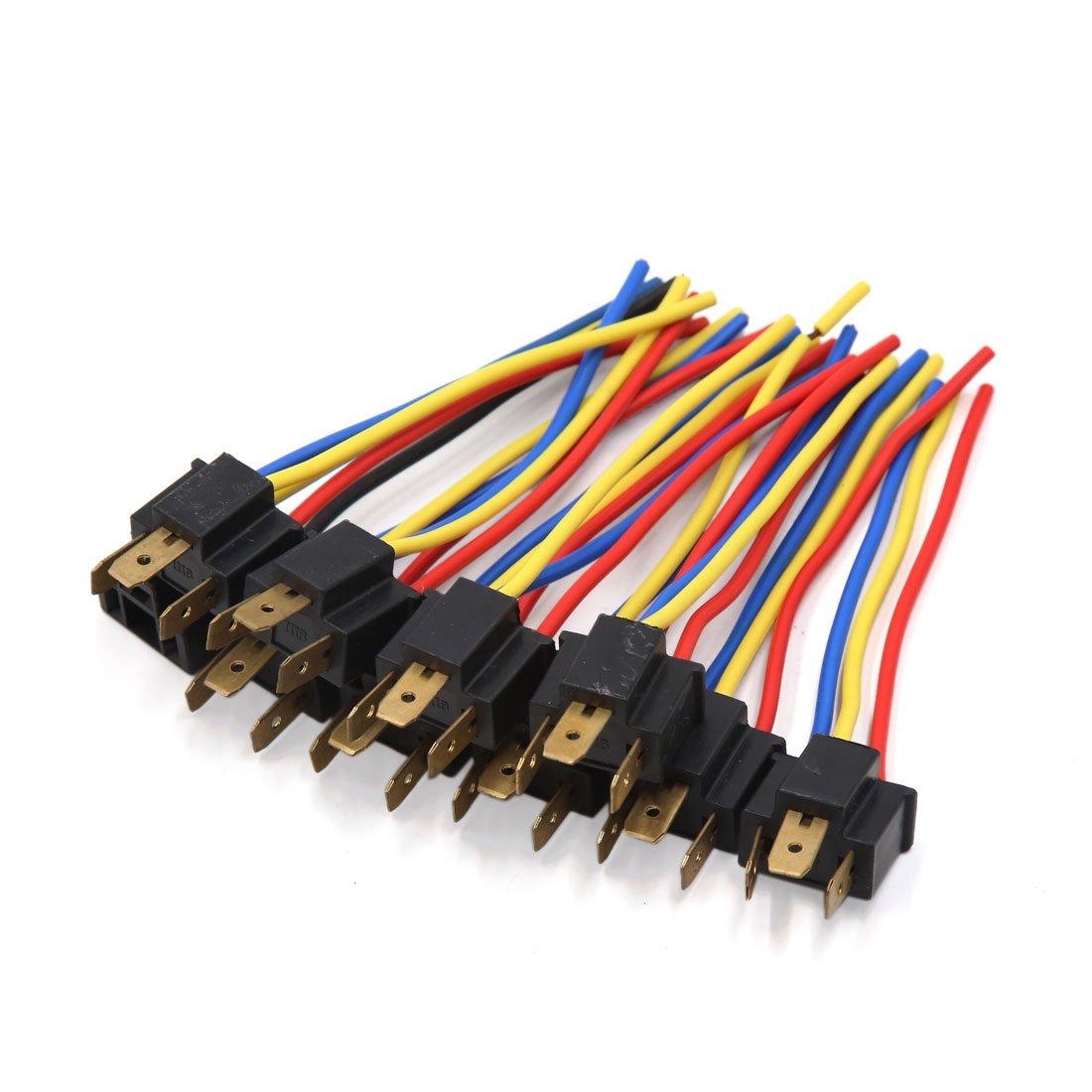 sourcingmap 10uds H4 Conector cableado Adaptador Piloto Antiniebla Enchufe Macho a17022200ux0888