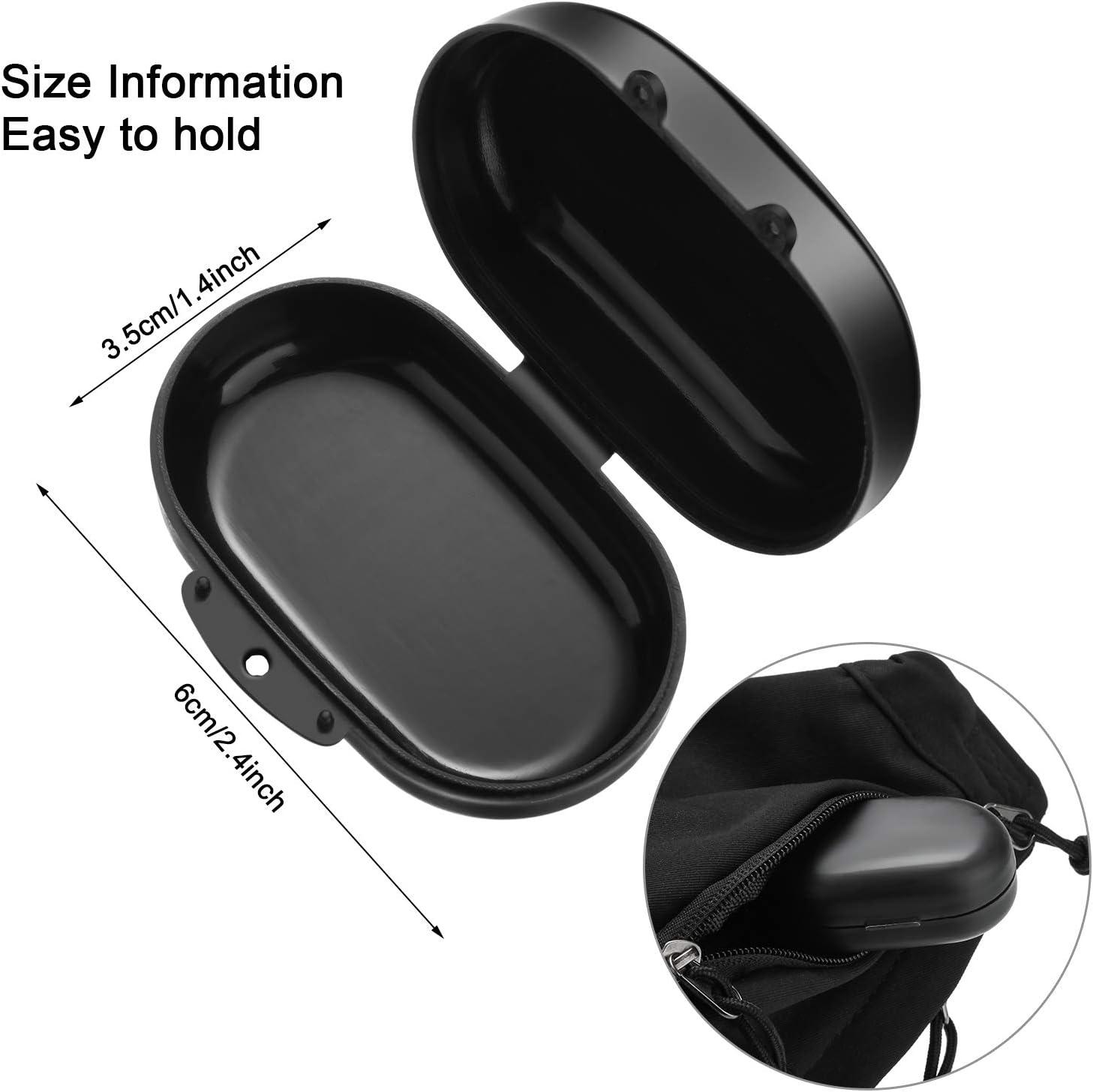 3 Jeux Bouchons dOreilles Anti-Bruit R/éutilisables S/ûrs en Silicone avec Bo/îtes de Rangement Bouchons dOreilles pour R/éduction de Bruit Bouchons dOreilles de Protection Auditive Noir et Gris