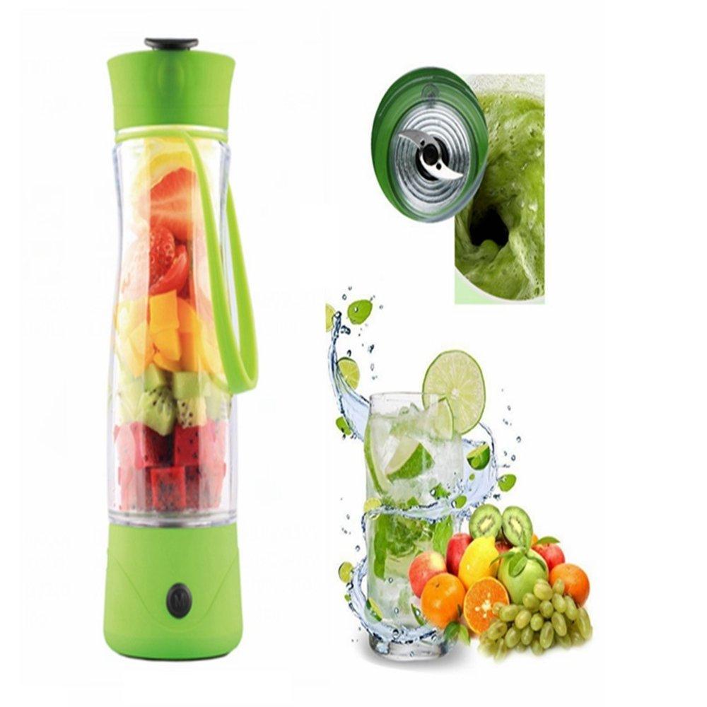Goodid Exprimidor Eléctrico Licuador con Batidor Portatil, Mini Batidor de Fruta de Alta Potencia(Verde)