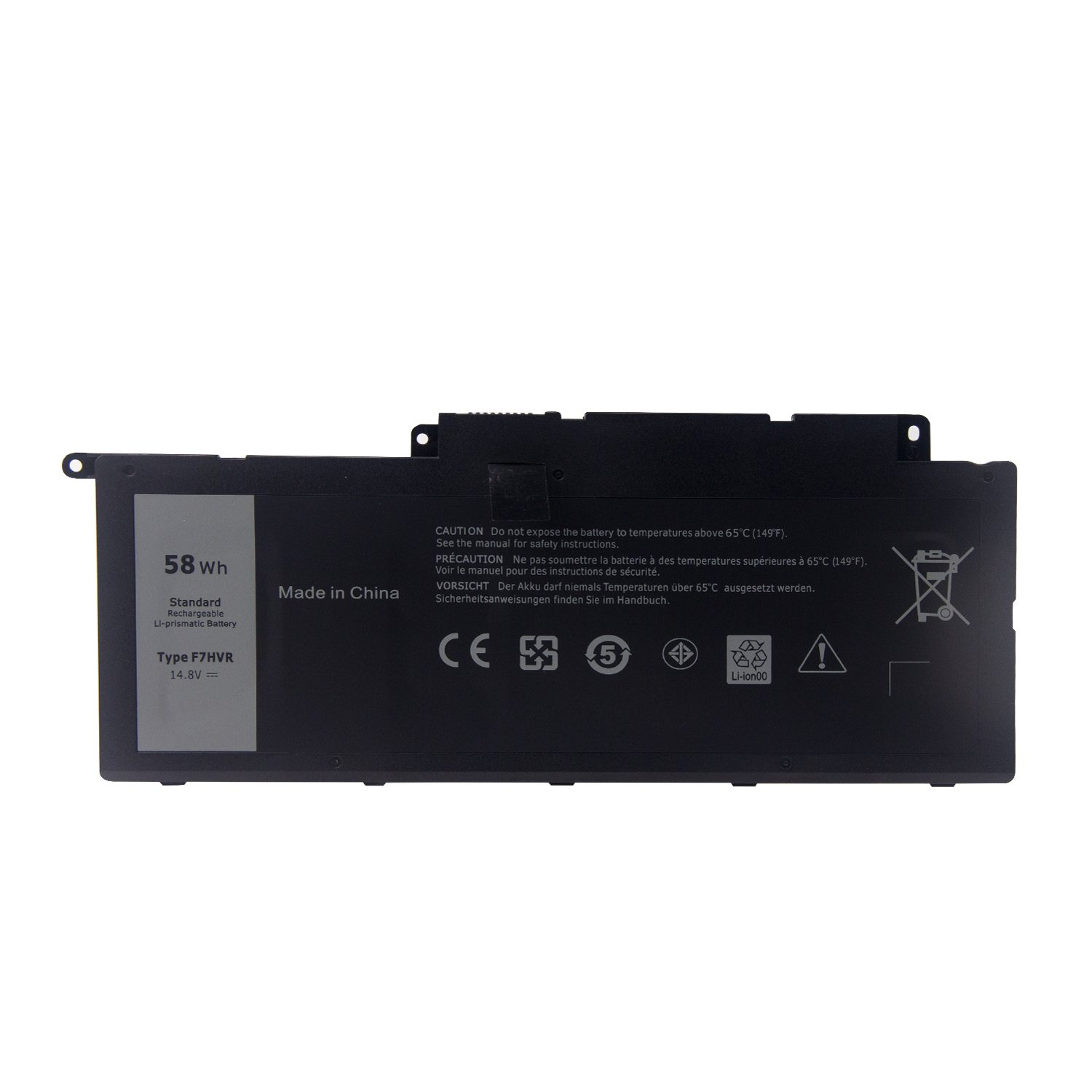 Madehao F7HVR (14.8V 58Wh) Replacement Laptop Battery for Dell Inspiron 17 7737 15 7537 Series G4YJM 062VNH T2T3J