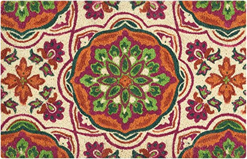 - WAVERLY WGT26 Greetings Tapestry Patchwork/Bohemian Clay Doormat 1'6