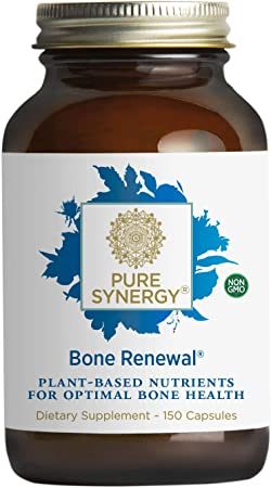 Pure Synergy Bone Renewal | 150 Capsules | Non-GMO | Plant-Based Calcium for Bone Health with Natural Magnesium, Vitamin D3, and Vitamin K2