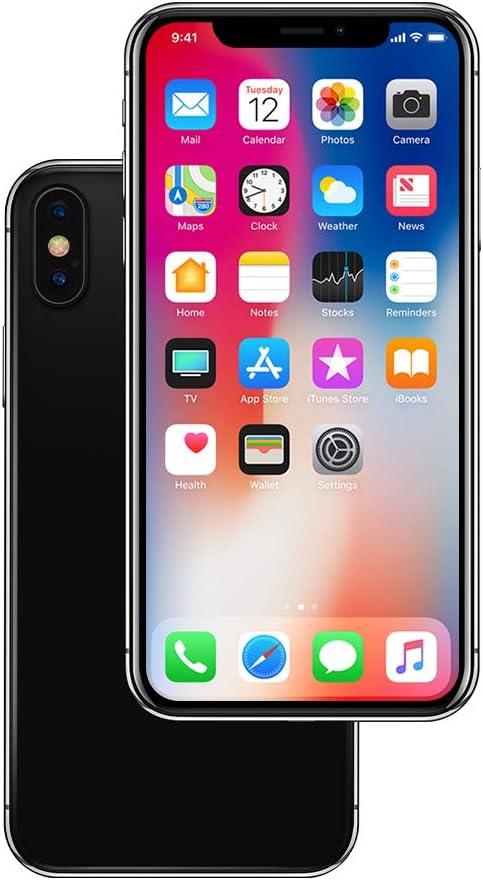 Non-Working Metallic Genuine Glass Replica Phone Dummy Display Phone for Phone X XS (X Grey Menu Screen)