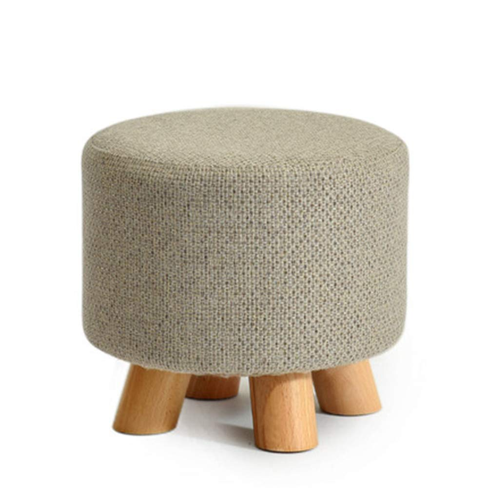 Round A Stool Coffee Table Stool Solid Wood Fabric Stool Footstool Stool Cover Removable Kitchen Bedroom Living Room,Square,D