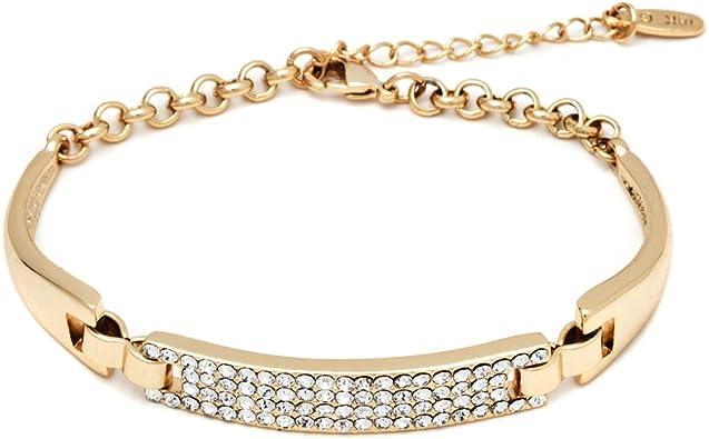 18K White Gold Cut Out Heart ID Bracelet