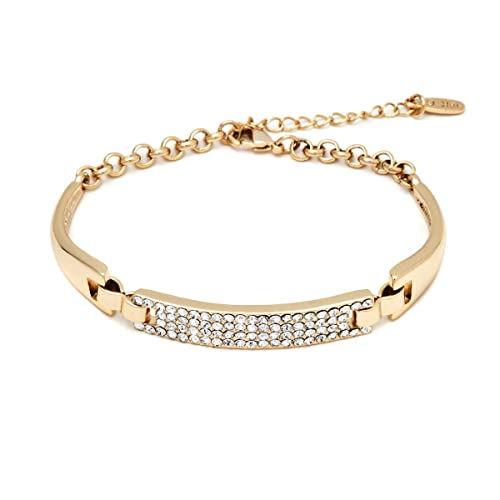 Amazon.com  Gold  Sparkle Swarovski Crystals Bracelet  Jewelry f367df02c5