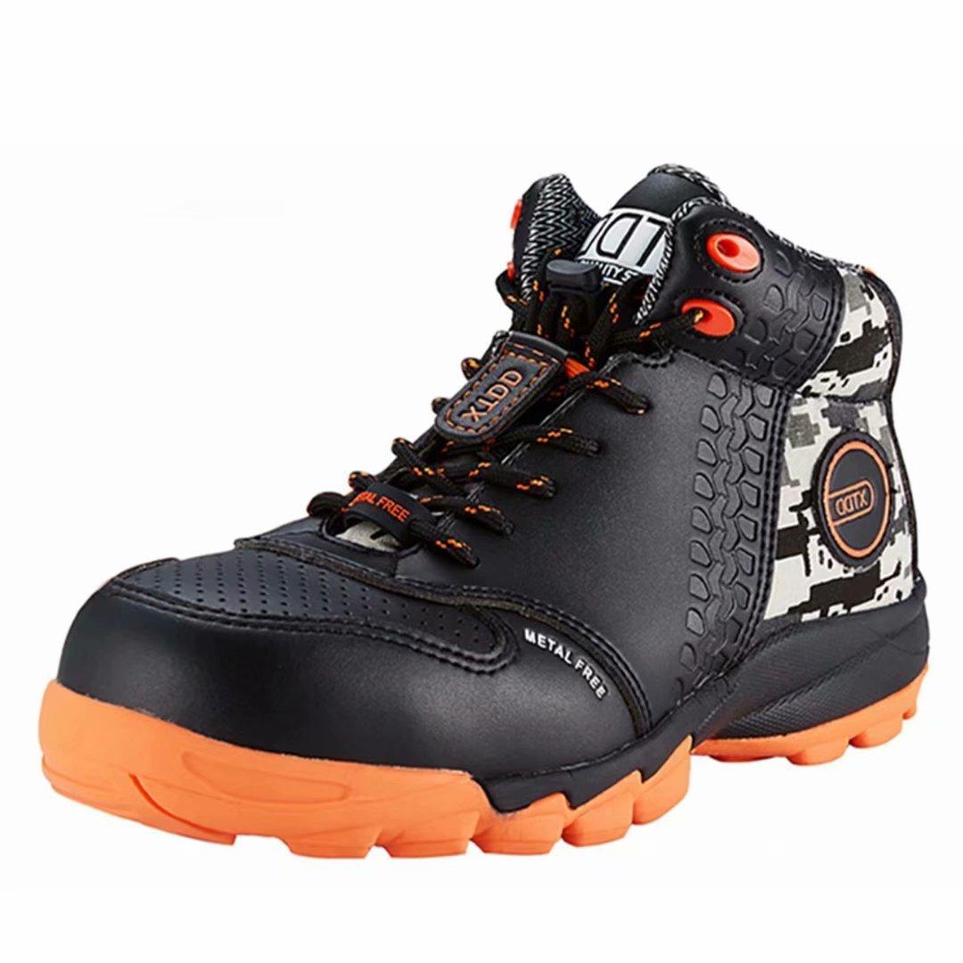 DDTX Botas de Seguridad Hombre (Puntera Composite, Entresuela de Kevlar, Antiestá ticos, S1P) Zapatos de Seguridad Trabajo Comodas Transpirables Negro Antiestáticos
