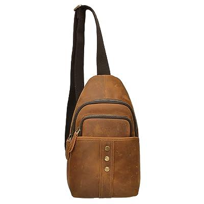 ALTOSY Genuine Leather Cross Body Sling Bag Chest Bag Backpack