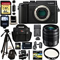 Panasonic LUMIX GX8 Mirrorless Micro Four Thirds Camera (Black), G Vario 12-60mm f/3.5-5.6 ASPH. POWER O.I.S. Lens, Transcend 64 GB Card, Polaroid Tripod, Polaroid Battery, Charger + Accessory Bundle Noticeable Review Image