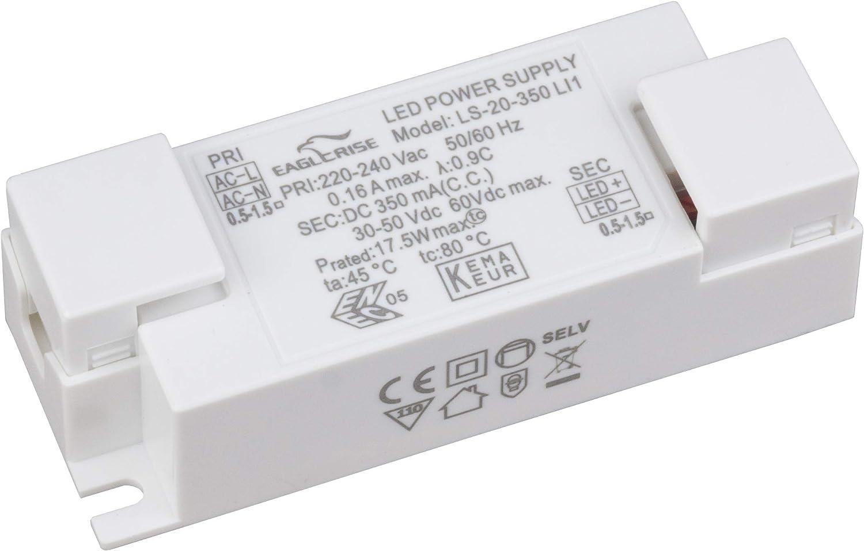 blanc Eaglerise Transformateur LED sans flamme pour transformateur 1-50 W pour 350 mA 500 mA 700 mA 1000 mA pilote avec courant constant pour ampoules LED SMD MR16